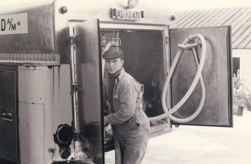 Chauffør Ernst Jacobsen.