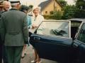 Dronning Ingrid modtages i Vind Kirkeby.