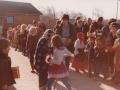 7. Fastelavnsfejring i Vind. Begyndelsen af 1980'erne.
