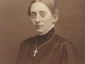 Ane Marie 'Boutrup' Andersen (1889-1968), datter af husmand i Øster Spartoft, Anders Boutrup Andersen (1859-1925) og Ane Johanne (f. Lauritsen, 1859-1909). Årstal ukendt.