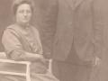 Tømrer og husmand i Virkelyst, Nis Jørgen Hansen (1877-1965) og hustru Inger Marie Hansen (f. Jeppesen, 1875-1955) Årstal ukendt.