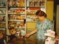 Anna Ingeborg Jensen (1913-1997), mangeårig købmand i Vind Kirkeby. Årstal ukendt. For yderligere oplysninger, se menupunktet 'Jeg husker dengang, da...' -> 'Anna Jensen (1913-1997)'.
