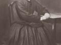 Ane Cathrine Jeppesen (f. Andersen, 1850-1910), gift med gårdmand i Bahr, Christian Mathias Jeppesen (1846-1932). Årstal ukendt.