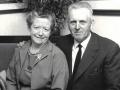 Gårdmand i Kirkegård, Anders R. J. Kirkegaard (1905-1974) og hustru Ingeborg J. Kirkegaard (f. Nakskov, 1915-2008) fotograferet midt i 1960'erne.
