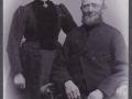 Husmand i Vildkilde, Johannes Mikkelsen (1858-1930) og hustru Ane Marie Mikkelsen (f. Kristiansen, 1865-1947). Årstal ukendt.
