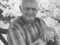 Landpost og husmand i Vildkilde, Daniel Mikkelsen (1899-1976). Årstal ukendt. For yderligere oplysninger, se menupunktet 'Jeg husker dengang, da...' -> 'Daniel Mikkelsen (1899-1976)'.