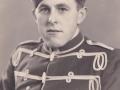 Senere husmand i Nybo, Henrik Gotfred Nielsen (1926-2018) fotograferet i uniform under militærtjeneste ved Garderhusarregimentet i Næstved i årene 1947-1948.