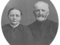 Gårdmand i Sønder Vindgab, Thomas Poulsen (1848-1923) og hustru Kirsten Marie Poulsen (f. Christensen, 1862-1932). Omkring 1920.