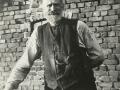 Gårdmand i Troldtoft, Mourits 'Moust' Troldtoft (f. Jensen, 1870-1951). Angiveligt 1938. For yderligere oplysninger, se menupunktet 'Jeg husker dengang, da...' -> 'Mourits Troldtoft (1870-1951)'.