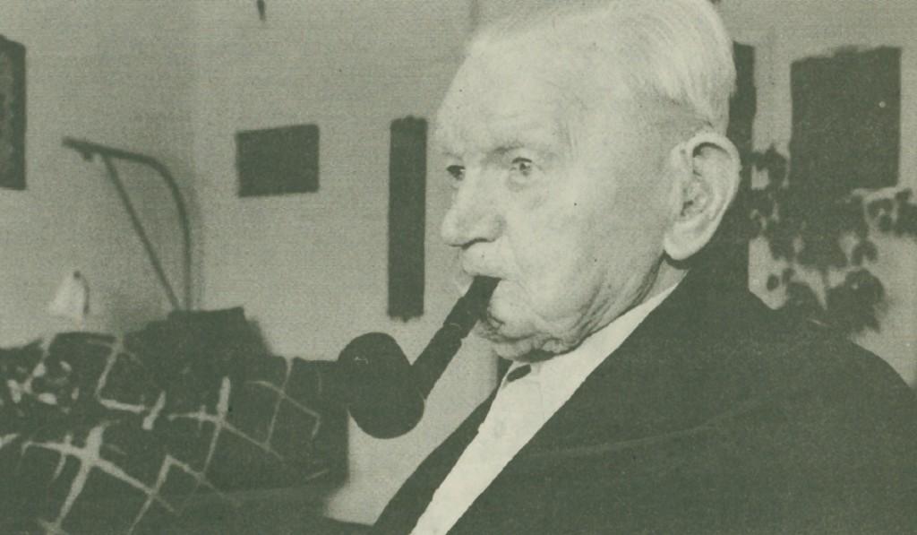 Bertel Bertelsen fotograferet kort forinden sin 100-års fødselsdag