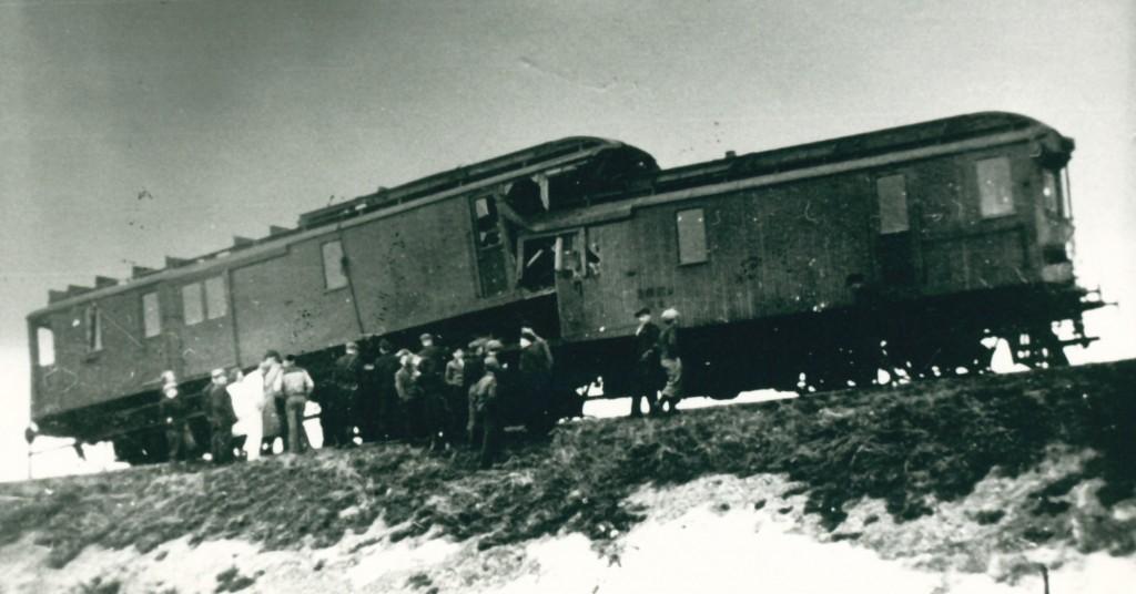 Billedet her giver et indtryk af de materielle skader ved dødsulykken i marts 1947
