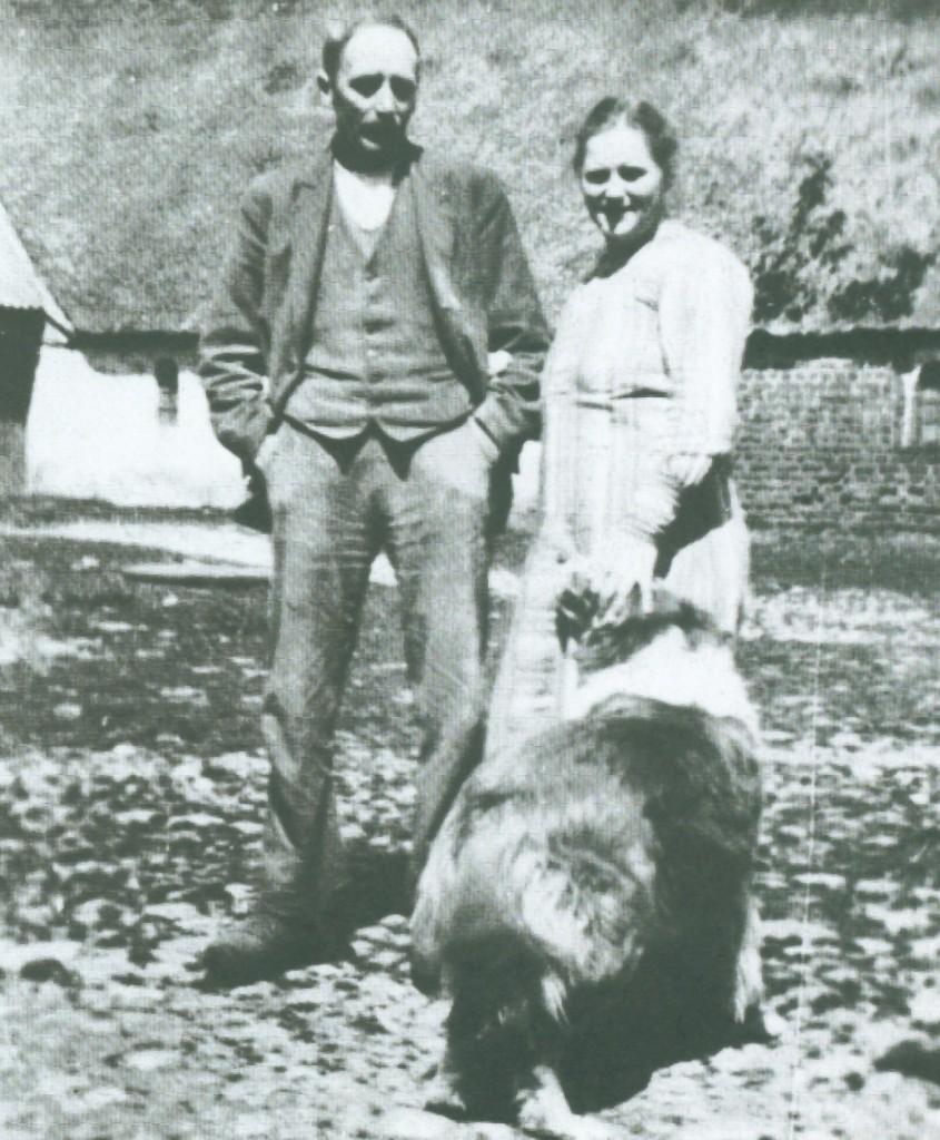 Jens Bak Poulsen i Vindgab (1890-1975) med sin hustru Sigrid (f. Søndergaard, 1897-1975)