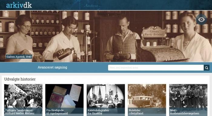 Arkiv.dk -landsdækkende arkivsøgning