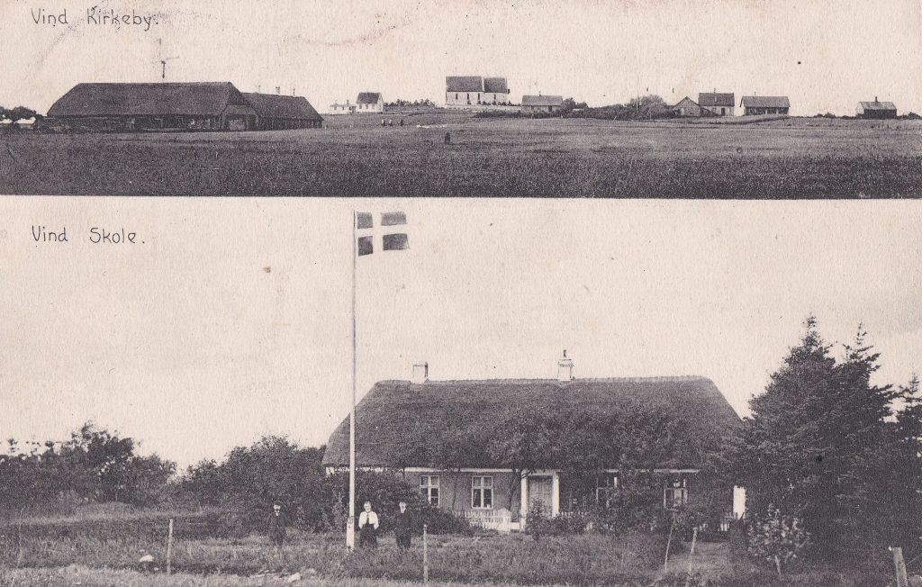 Vind Kirkeby og Vind Gamle Skole.