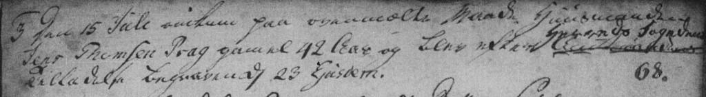 Vinding-Vind sogn kirkebog 1782