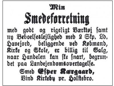 Notits i Holstebro Dagblad den 25. maj 1914.