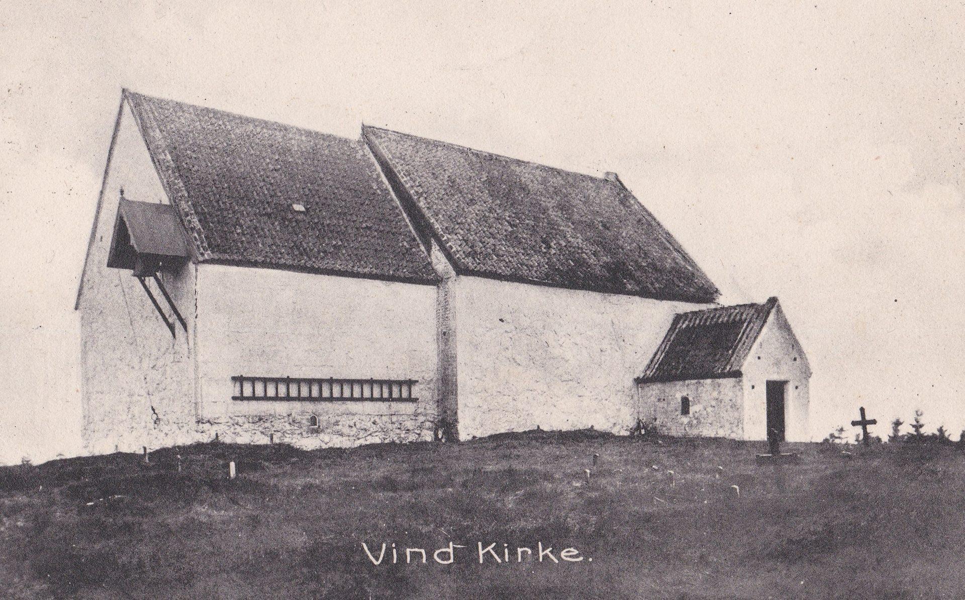 Vind kirke omkring år 1900.