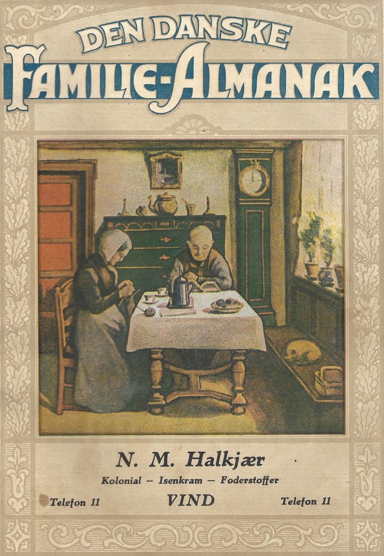Købmand Halkjærs Familie-Almanak, 1949
