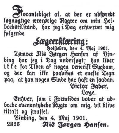 Holstebro Dagblad 1901.