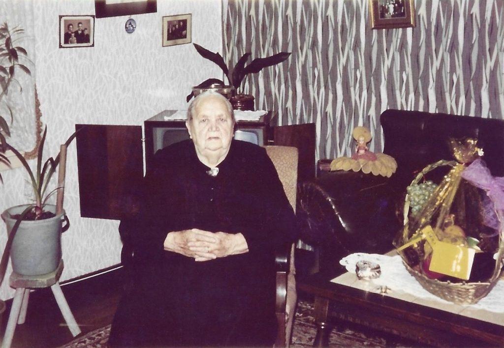 Maren Troldtoft fotograferet på sin 90-års fødselsdag i 1967.