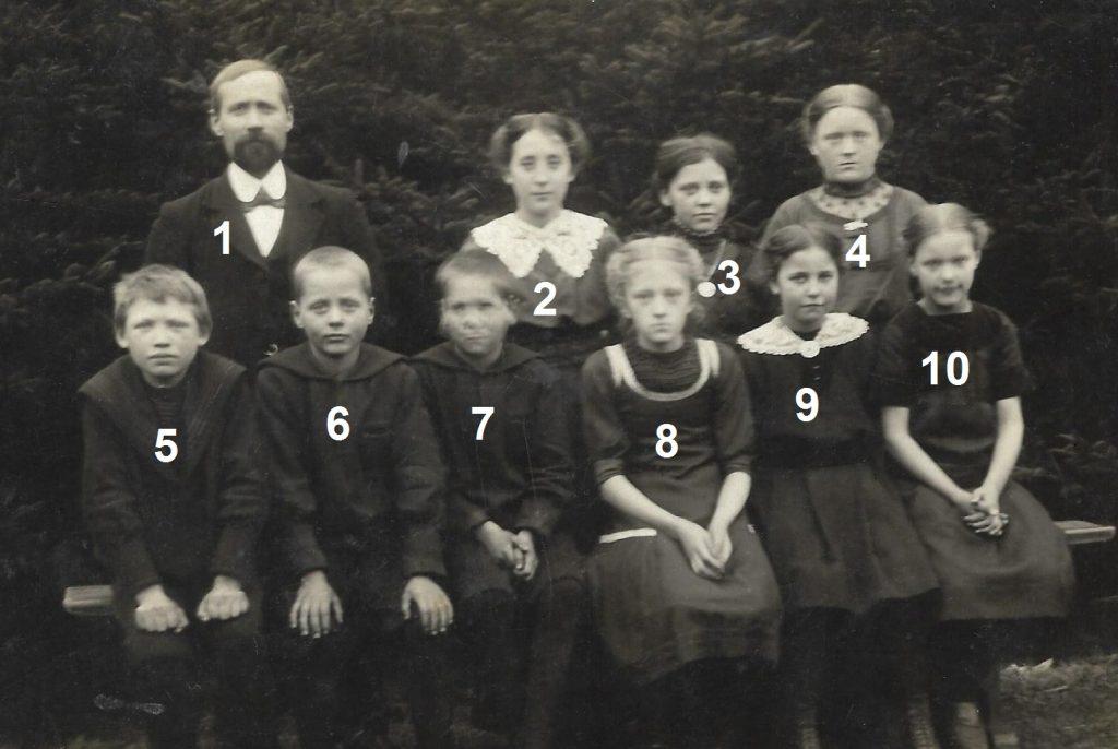 Stråsø Skole, omkring 1912.