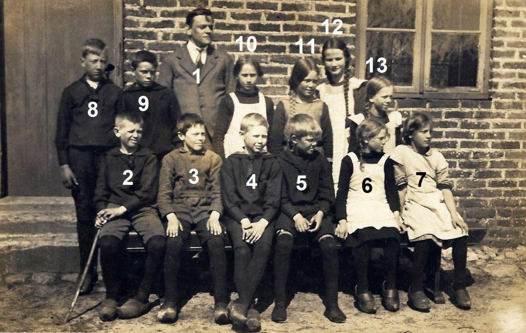 Stråsø Skole, omkring 1919.