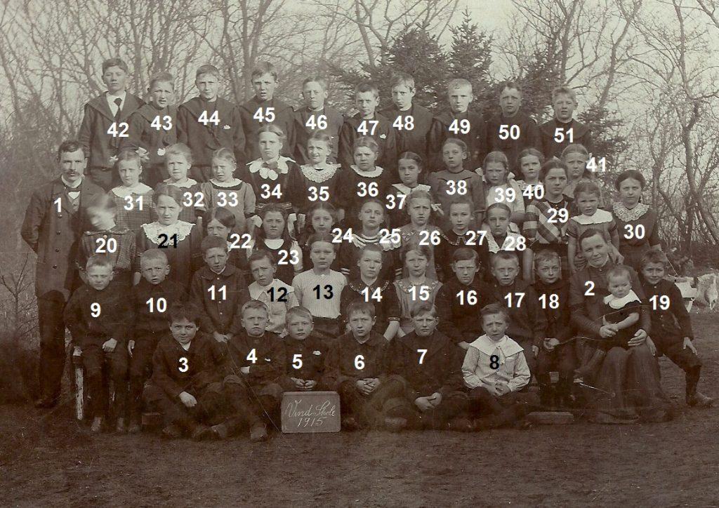Vind Skole 1915.