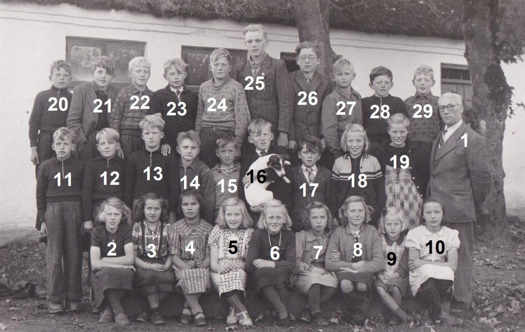 Vind Skole, ældste elever, angiveligt 1946.