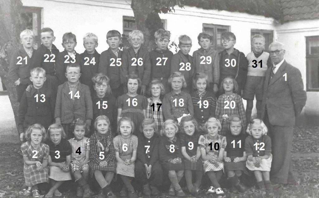 Vind Skole, yngste elever, angiveligt 1946.
