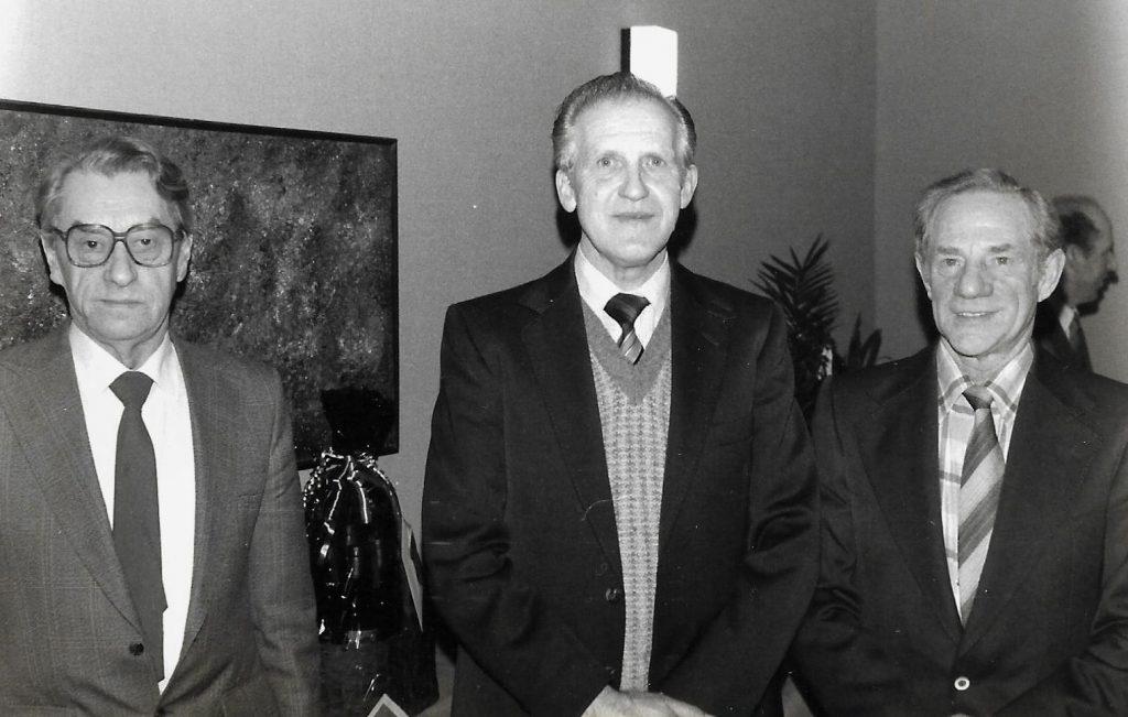 Tidligere landboforeningsformænd fortsat, fra venstre Andreas Nielsen, Vinding (formand 1959-1961), Aksel Poulsen, Vinding (formand 1961-1964) og Thomas Maarbjerg, Vinding (formand 1964-1967).