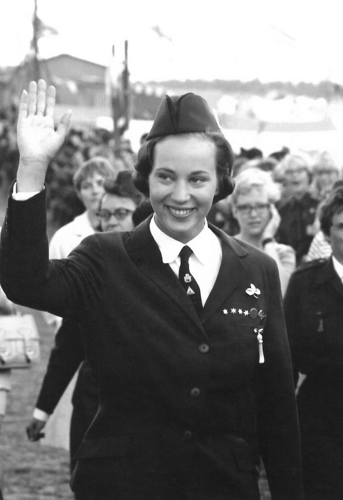 Landslejrens æresgæst, Hendes Kongelige Højhed Prinsesse Benedikte, siden 1965 og endnu i dag protektor for både Det Danske Spejderkorps og for De grønne pigespejdere.