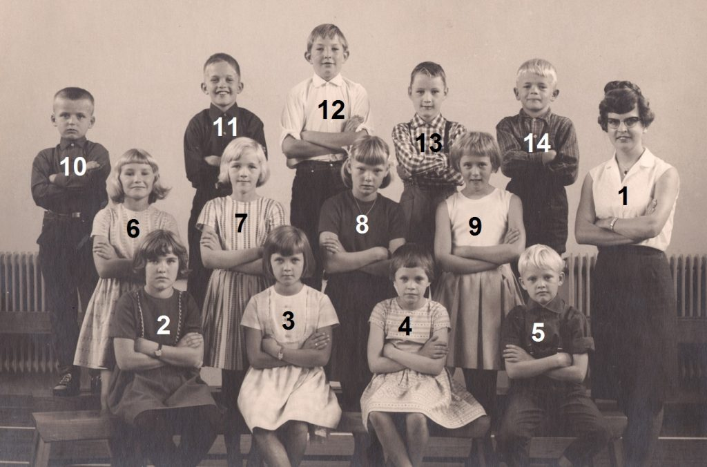 Vind Skole, 4. klasse, 1966-1967.