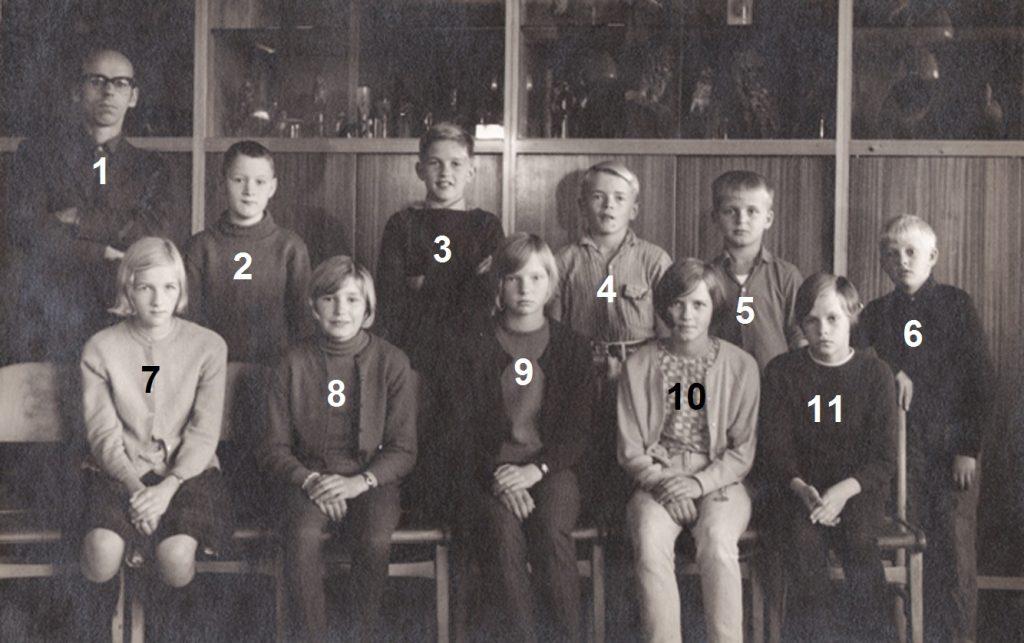 Vind Skole, 6. klasse, 1968-69.