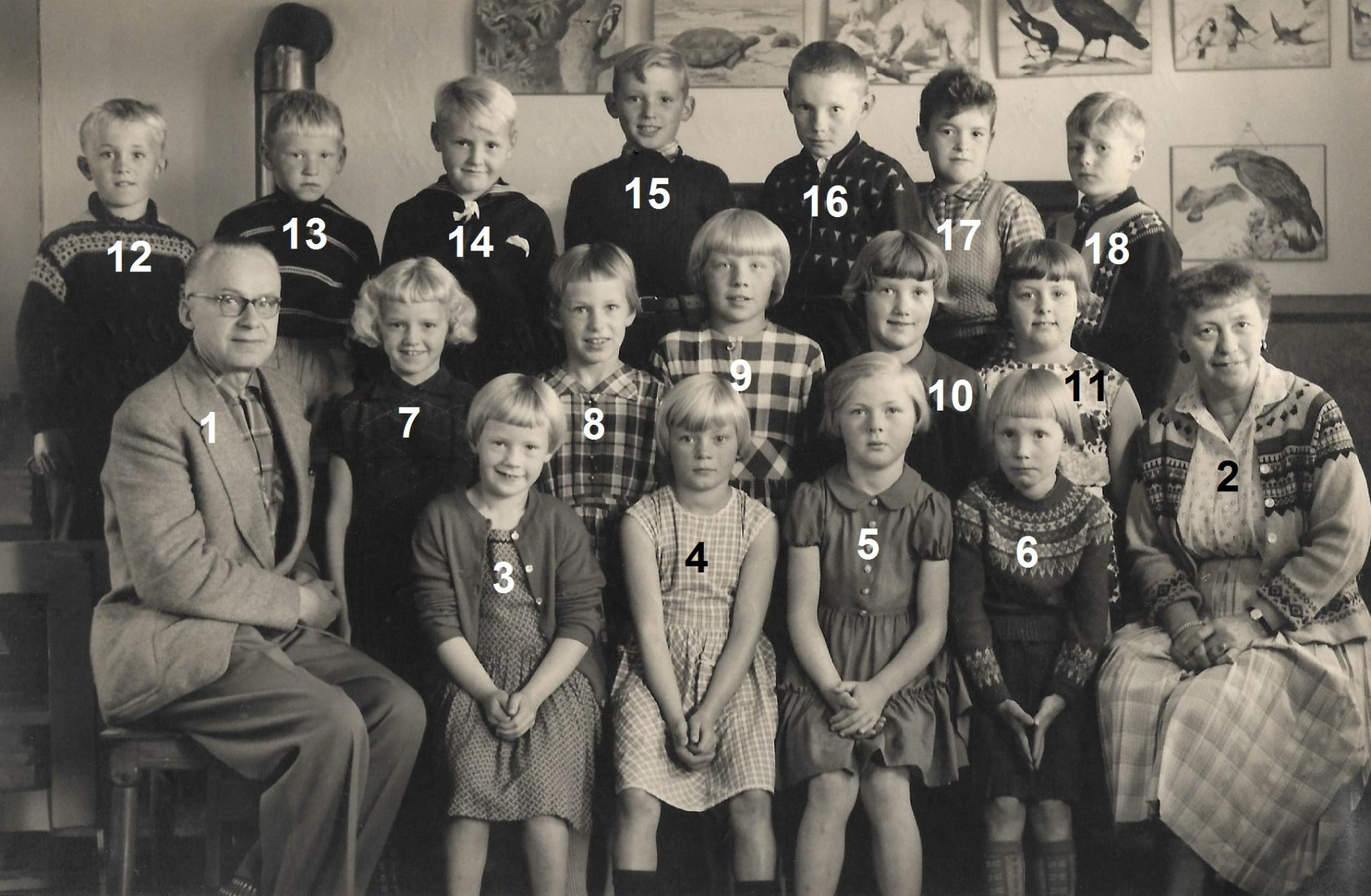Agerfeld Skole, omkring 1959.