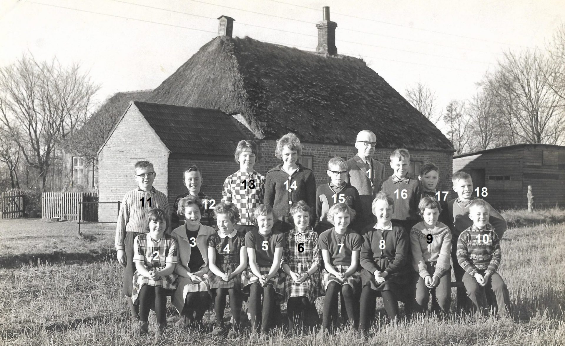 Agerfeld Skole, omkring 1960-1961.