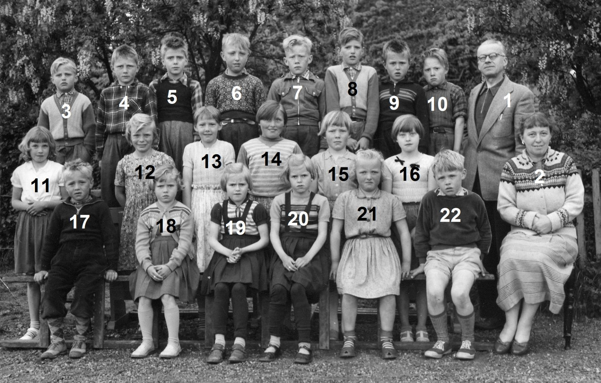 Agerfeld Skole, omkring 1957.