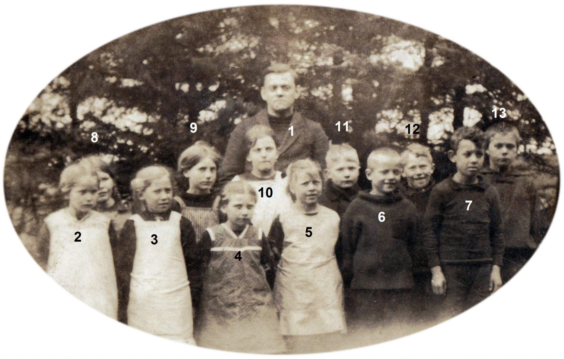 Stråsø Skole, omkring 1922.