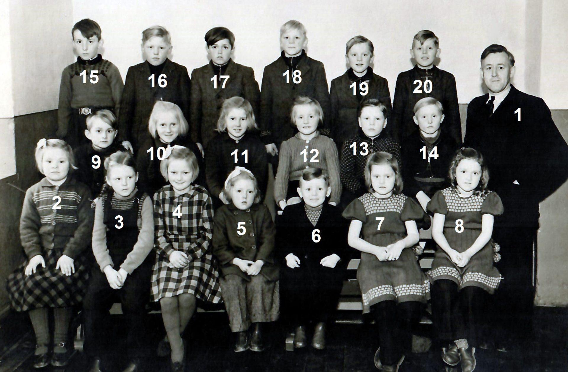 Vind Skole, omkring 1950.