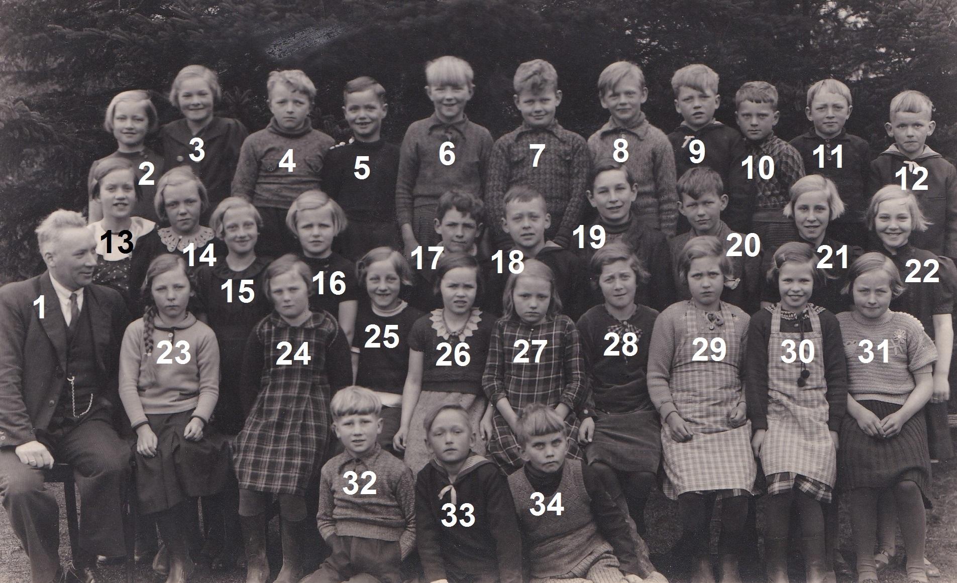 Vind Skole, slutningen af 1930'erne.