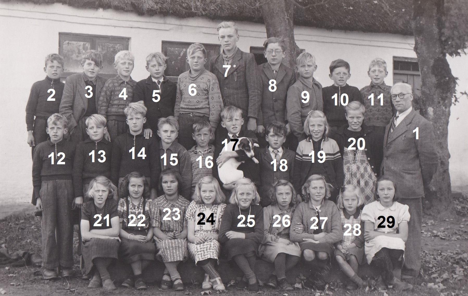 Vind Skole, slutningen af 1940'erne.