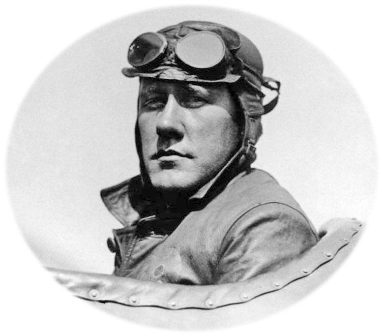Jens Peder Thinus Christensen (1890-1921), født i Vind og siden blandt de første piloter inden for amerikansk luftpost.