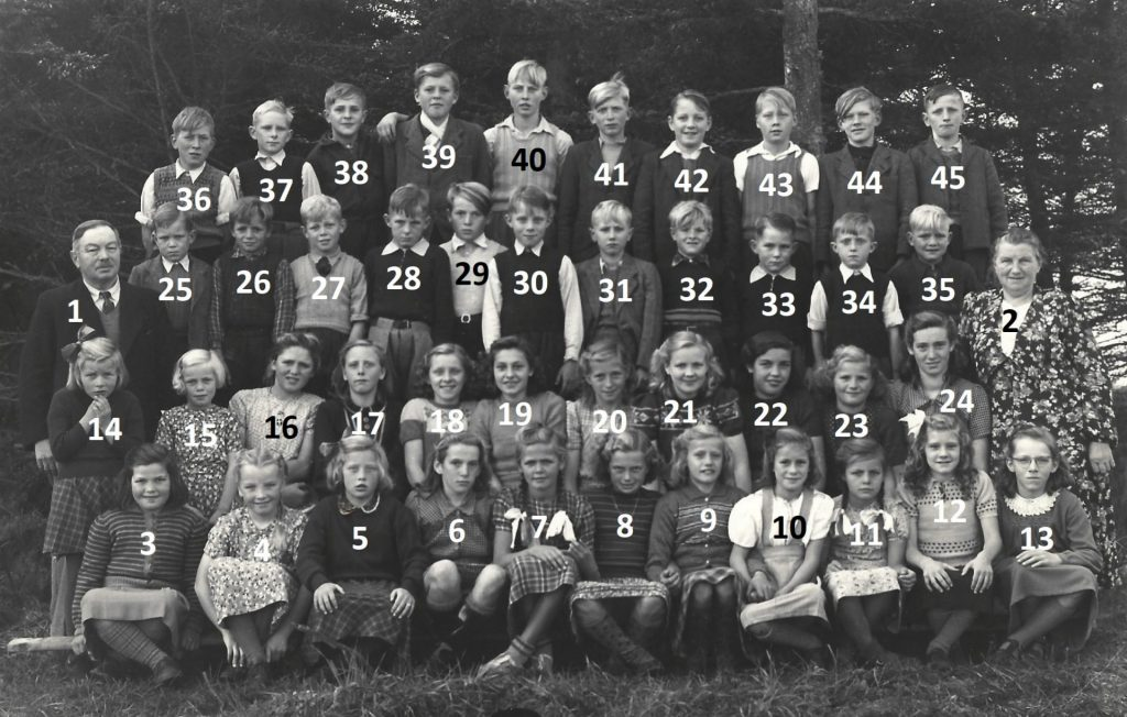 Agerfeld Skole, omkring 1948-1949.