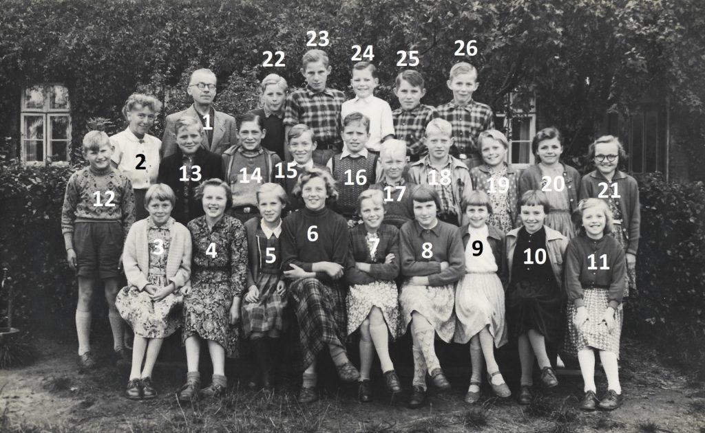 Agerfeld Skole, omkring 1952-1953.
