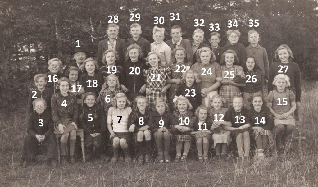 Agerfeld Skole, midten af 1940'erne.
