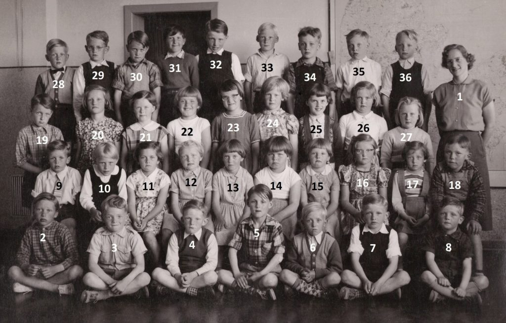 Vind Skole, midten af 1950'erne.