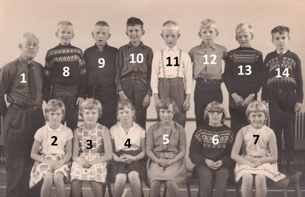 Vind Skole, 4. klasse, 1965.