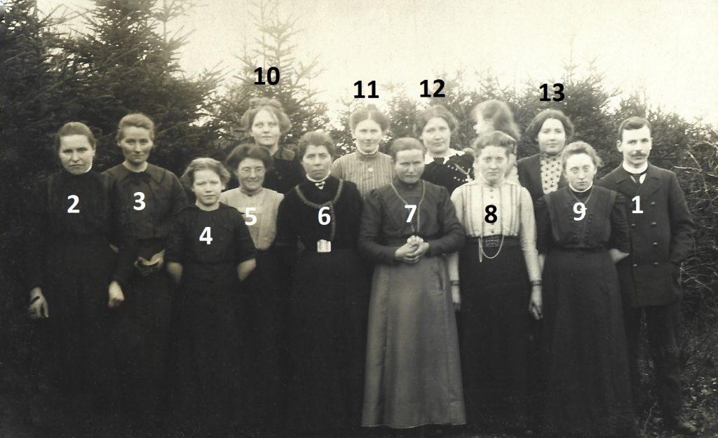 Vind Pigeforening, omkring 1915-1920.