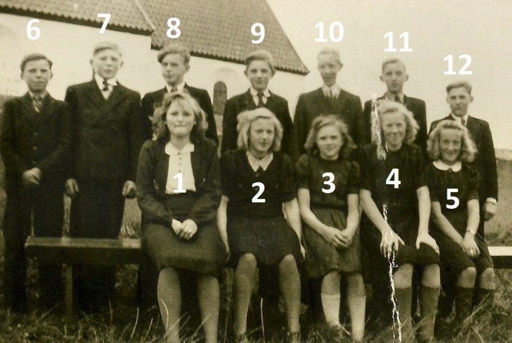 Sognemenighedens konfirmander i 1946. Klik på billedet for at se det i større format.