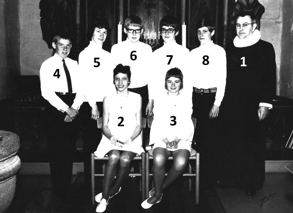 Valgmenighedens konfirmander i 1971. Klik på billedet for at se det i større format.
