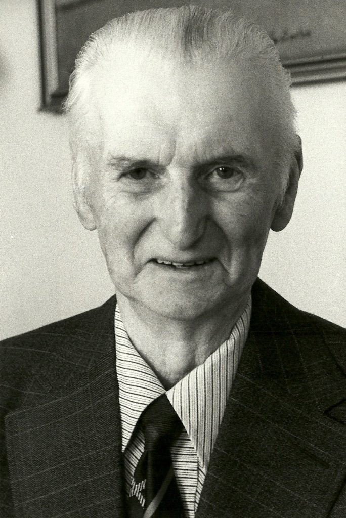 Kjeld Kirkegaard (1903-1985) fotograferet forud for sin 75-års fødselsdag i 1978.